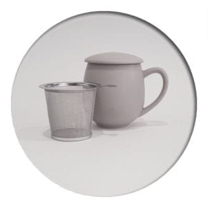 "Herb Tea Mug ""Saara""Grey"