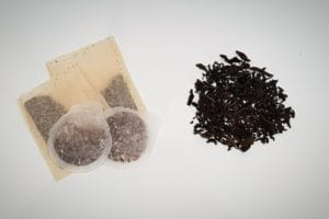 tea bags, teabags, plastic in teabags, loose leaf tea