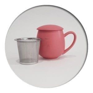 """Herb Tea Mug """"Saara"""" Berry Red"""