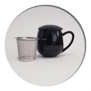 """Herb Tea Mug """"Saara"""" Black"""