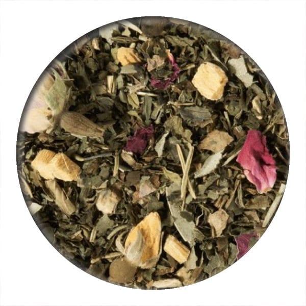 mint tea, rose tea, herbal tea, loose leaf tea