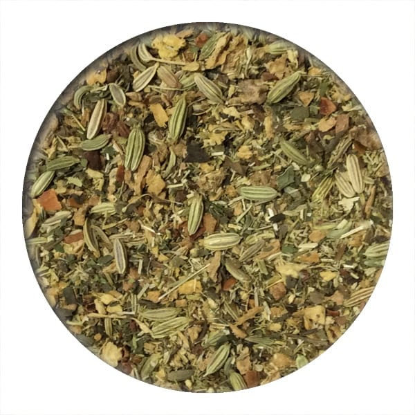stomach settle, herbal tea , loose leaf tea, digestion tea, fennel, ginger