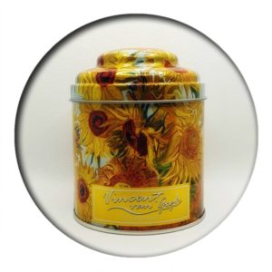 100g Tea Tin Van Gogh Sunflowers