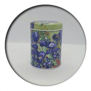 Van Gogh Irises Tin