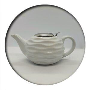 Tea Pot White Wave 0.75 ml volume