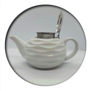 Tea Pot White Wave 0.75 ml