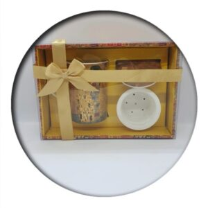 Klimt Kiss, boxed, with Ceramic Infuser