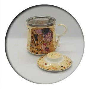 Klimt Mug with Infuser, boxed