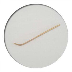 bamboo matcha scoop on white background