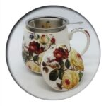 White Flowers Mug with Infuser