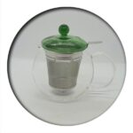 Fabi Glass Tea Pot 0.7 L with infuser (green lid)