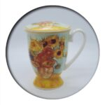 Van Gogh Sunflowers Mug with Infuser