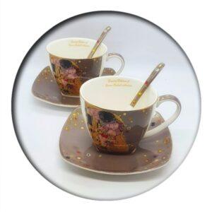 Klimt Set Cups and Saucers