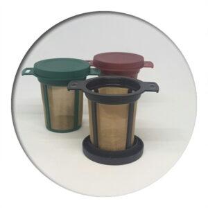 Lidded Durable Tea Filter, Red 6cm