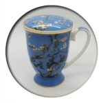 Van Gogh Almond Tree Blue Mug with Infuser