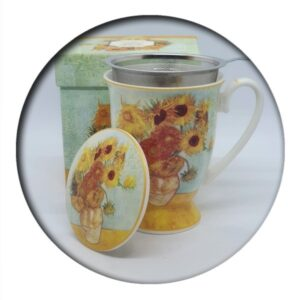 Van Gogh Sunflowers Mug with infuser