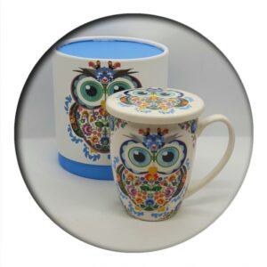 Owl Mug with Infuser in Box