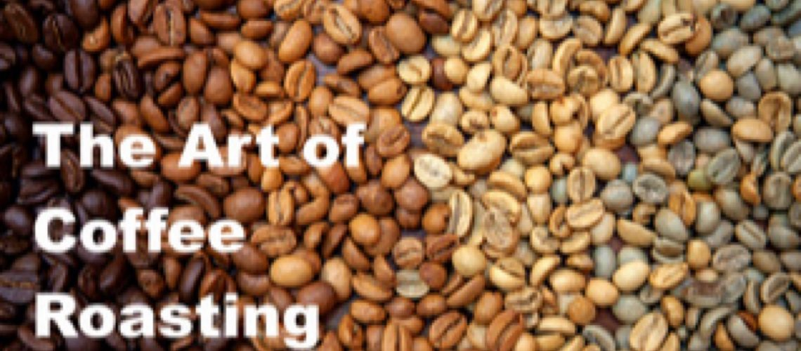 Coffee,beans, different, levels, of , roasting, close, up