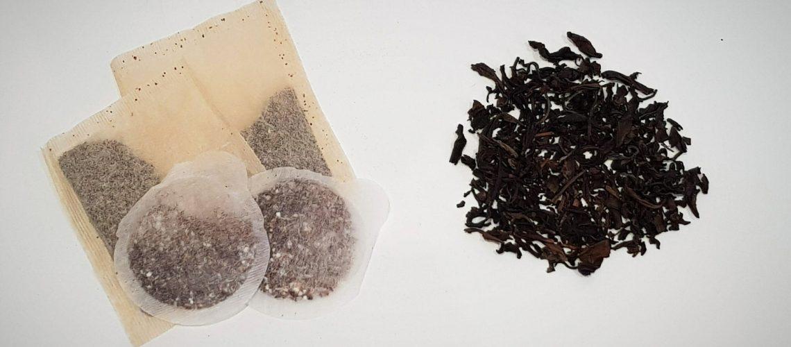 tea bags, teabags, plastic in teabags, loose leaf tea